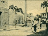 A photo of Basseterre taken from the website http://historicbasseterre.com/ Watering the Streets