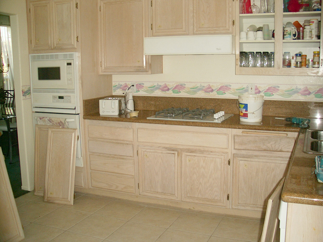 refinish white washed oak kitchen cabinets refinish kitchen cabinets Before