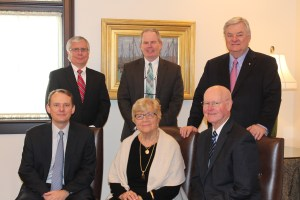 Top left: Brad Smith, Director; Jason This; James Dicke II Bottom left: James Dicke III; Ruth Ann Schwieterman; John Gilberg Not pictured: Steve Hartwig; Dianne Komminsk, Chairman Emeritus