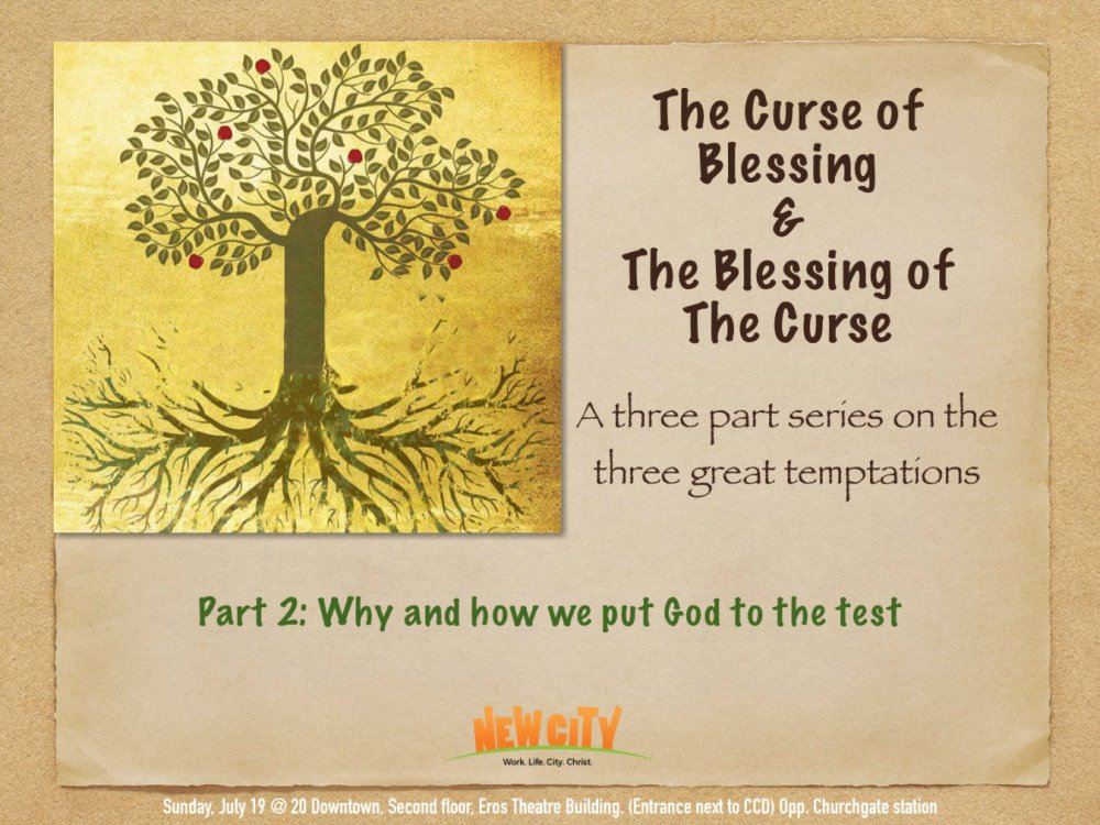 Why and How we put God to the Test Image