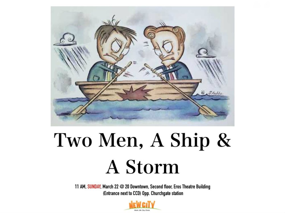 Two Men , A Ship and A Storm Image