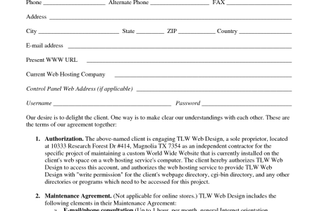 design contract agreement template 13628