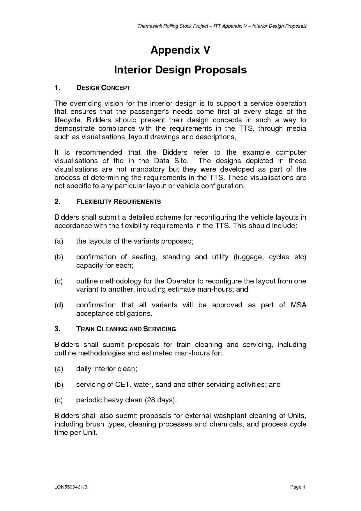 sample proposal interior design