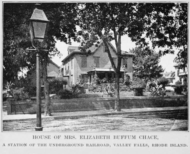 The Chace house. Photo courtesy New York Public Library.
