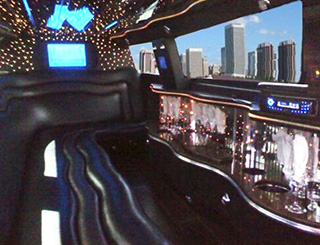 10 Passenger Chrysler Limousine Interior