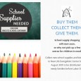 You can help needy children and families this Fall by collecting new school supplies and donating them to New Life Evangelistic Center before Labor Day! All the school supplies collected will be distributed to needy children and families before school […]