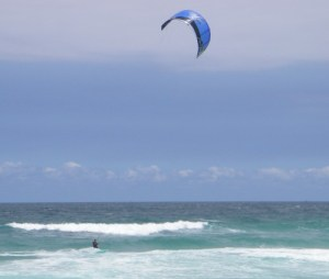 Kite Surfing in Florianopolis, Brazil