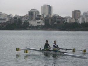 Two of the Brazilian Rowing Team at Rodrigo de Freitas Lake