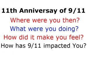 11th Anniversary of 9/11 - Acknowledgement