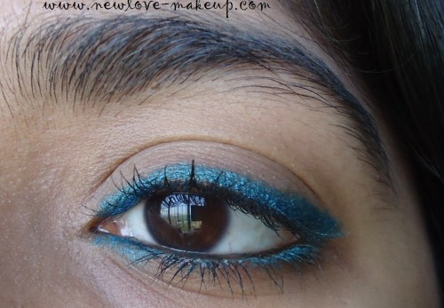 Maybelline The Colossal Kohl/Kajal Turquoise Review, Swatches, FOTD