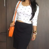 OOTD: Polka Dots Bandage Crop Top, Daniel Wellington Watch