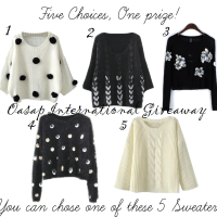 Oasap International Giveaway: Win a Sweater of your Choice
