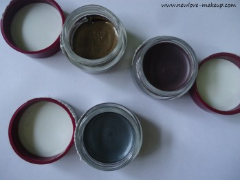 Oriflame The ONE Colour Impact Cream Eyeshadows Shimmering Steel, Golden Brown, Intense Plum Review,Swatches