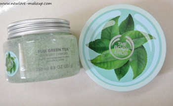 The Body Shop Fuji Green Tea Body Scrub, Body Butter Review, Indian Beauty Blog