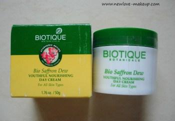 Biotique Bio Saffron Dew Youthful Nourishing Day Cream Review