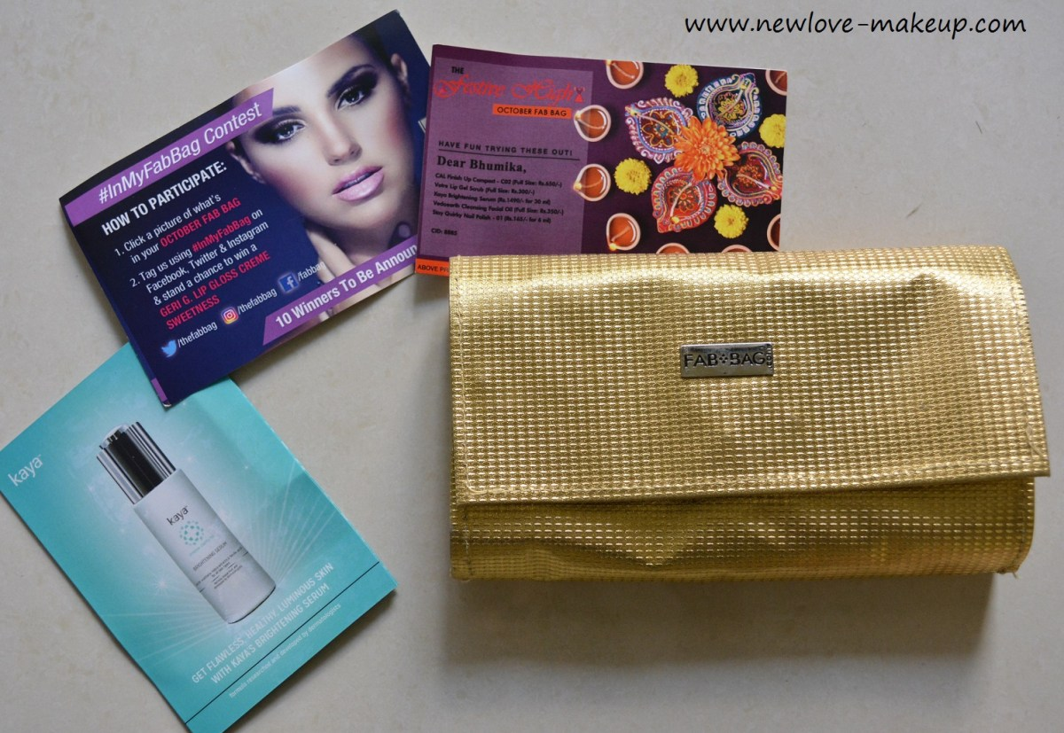 October 2016 Fab Bag Review & Unboxing