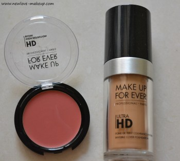 MUFE Ultra HD Foundation, HD Second Skin Cream Blush Review, Swatches