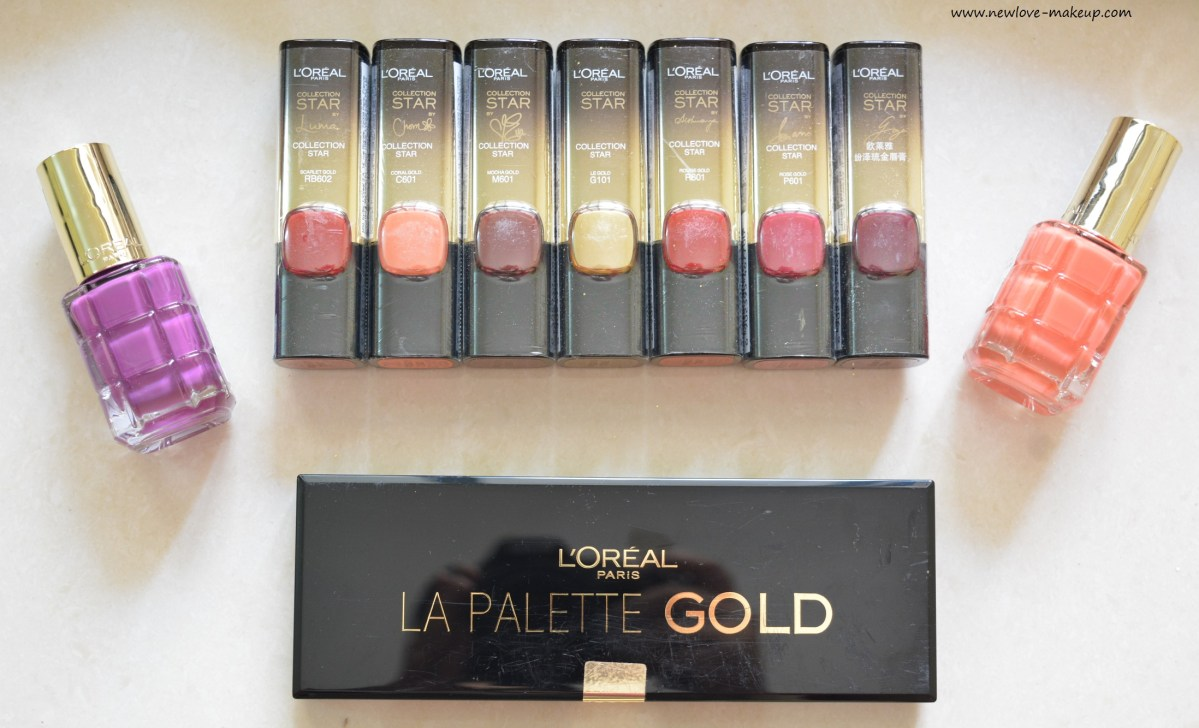 L'Oreal Paris #BoldInGold Collection Review, Swatches