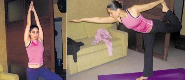 kareena doing yoga