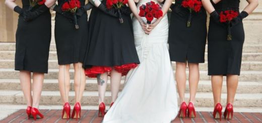 bridal party from the back