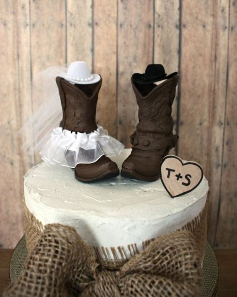 Plastic Cowboy Boot Cake Topper