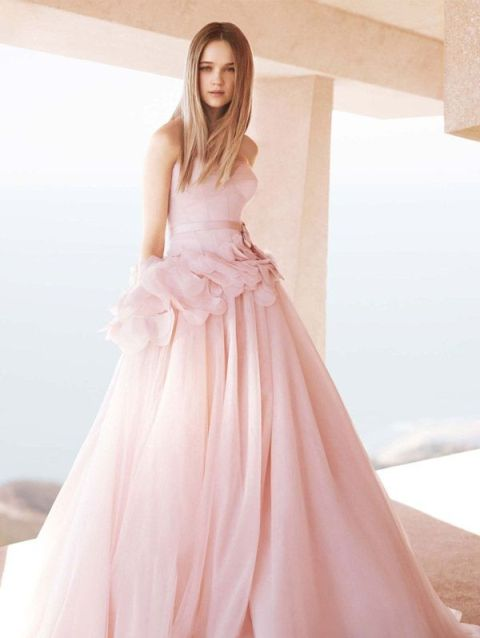 15 Pink Wedding Dresses For The Unconventional Bride