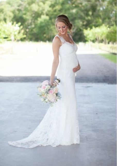 Elegant Wedding Dresses For Pregnant Brides : Elegant wedding dresses for pregnant brides