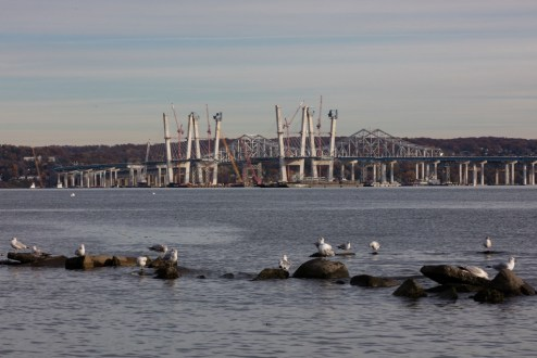 November 10, 2016 - The New NY Bridge project, as seen from Memorial Park in Nyack.