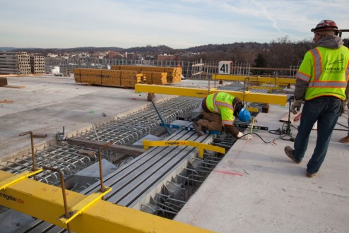 December 13, 2016 - Workers install an expansion joint on the Westchester approach.