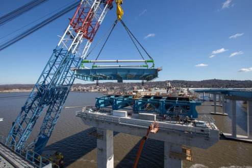 February 4, 2017 - I Lift NY raises a section of the bridge's structural steel.