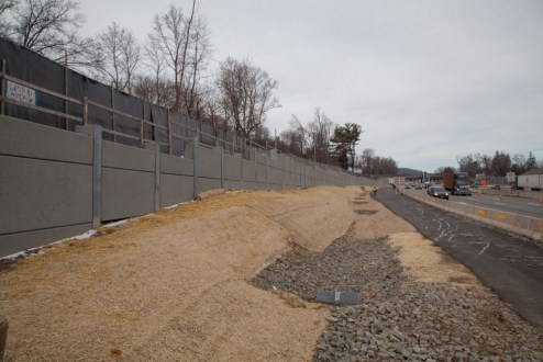 December 21, 2016 - New, noise-reducing barriers are installed in Rockland County.