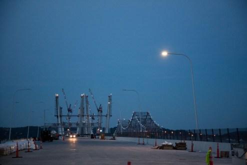 May 17, 2017 - The New NY Bridge's energy-efficient roadway lighting utilizes light emitting diodes, or LEDs.
