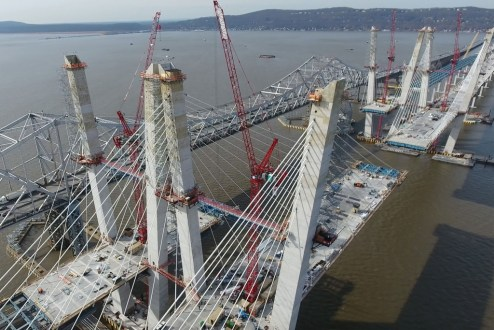 February 27, 2017 - A total of 192 stay cables will support the main span, 96 on each bridge.