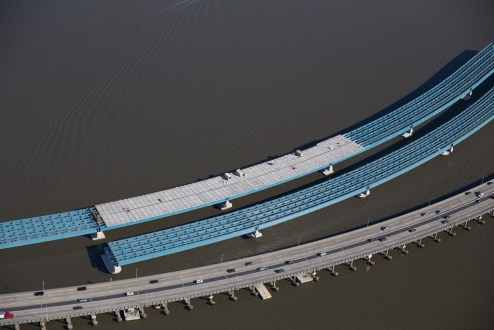 November 16, 2015 - The deck of the new bridge's approach spans will be built with nearly 6,000 concrete panels.