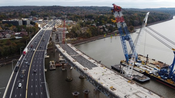 November 14, 2017 - The removal of the old bridge will allow the project team to complete the second span of the new bridge.