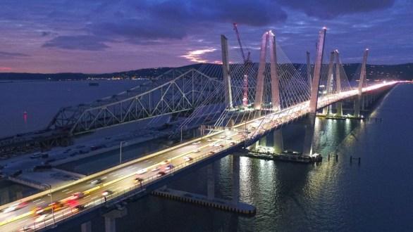November 14, 2017 - Traffic crosses the Hudson River on the new bridge's first span.