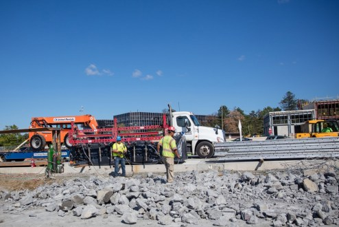 October 12, 2017 - Crews break apart the concrete underneath inactive roadway in Tarrytown.