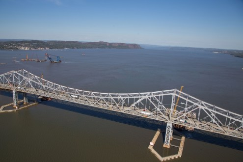 October 2014 - Aerial view of the Tappan Zee Bridge main span.