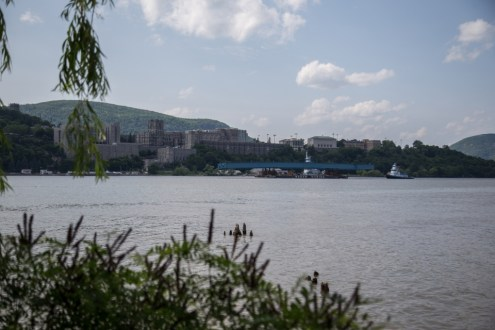June 10, 2015 - The project's first steel girder assembly passing the United States Military Academy at West Point, NY.