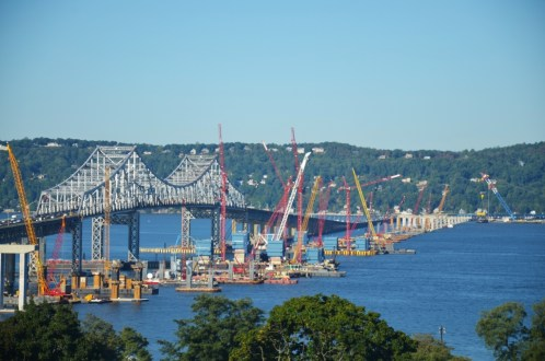 September 24, 2015 - The New NY Bridge project site as seen from Westchester County.