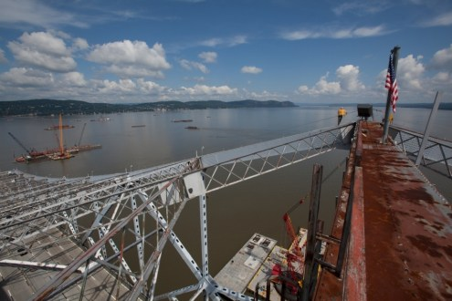 June 2014 - View of project from the Tappan Zee Bridge