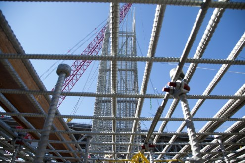 September 17, 2014 - Rebar in the pier 39 pile cap.
