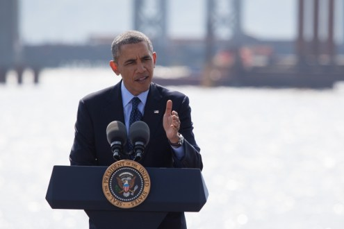 May 14, 2014 - President Obama calling for infrastructure enhancement throughout the country.
