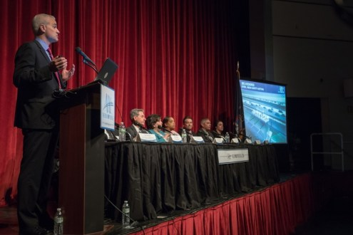 May, 2015 - Panelists at the 2015 annual public meeting in Rockland, held on May 14 at Nyack High School, shared what lies ahead for the largest bridge and highway project in the nation.