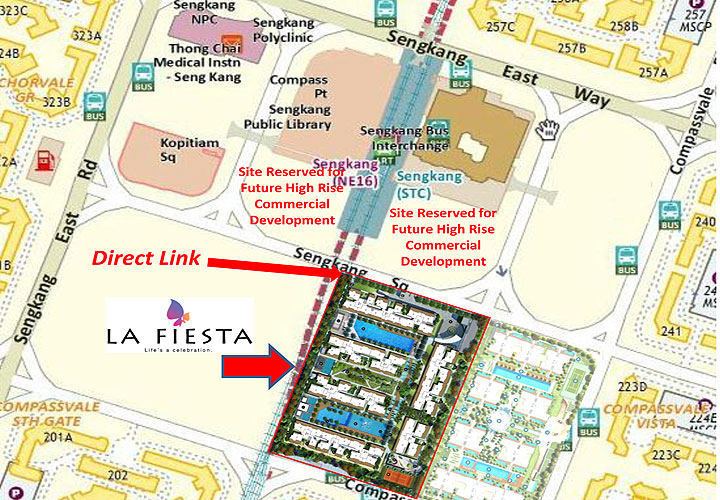 La Fiesta Sengkang Location