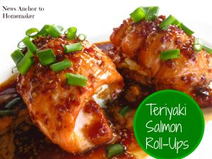 Stuffed Teriyaki Salmon Roll Ups with Sriracha Sauce Recipe
