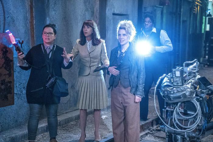 Melissa McCarthy, Kristen Wiig, Leslie Jones e Kate McKinnon in Ghostbusters 2016