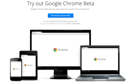 The update is currently only available for Chrome Beta, but you can get it now - Image credit Google.