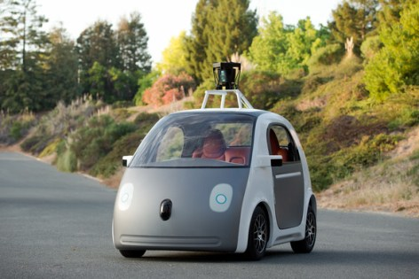 Google's Self-Driving car prototype - Image credited to Google.