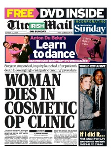 A whistleblower helped the Irish Mail on Sunday expose dangerous standards at what was then Ireland's largest cosmetic surgery clinic. RESULT: Clinic closed down. Surgeon is suspended from Medical Council register and later found guilty of professional misconduct.